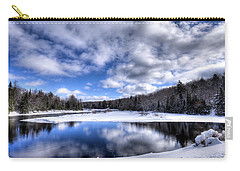 Carry-all Pouch featuring the photograph A Moose River Snowscape by David Patterson