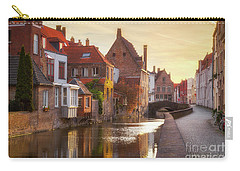 A Morning In Brugge Carry-all Pouch by JR Photography