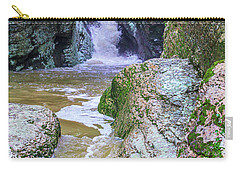 A Mountain Stream Rapidly Carries Clean Drinking Water Down In Valley Carry-all Pouch