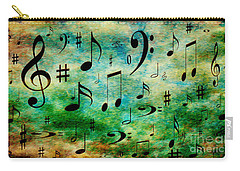 Carry-all Pouch featuring the digital art A Musical Storm 2 by Andee Design