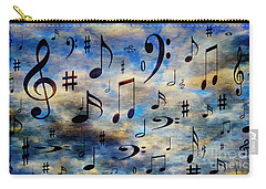 Carry-all Pouch featuring the digital art A Musical Storm 3 by Andee Design