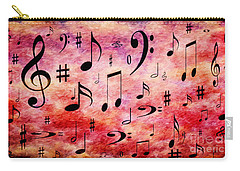Carry-all Pouch featuring the digital art A Musical Storm 4 by Andee Design