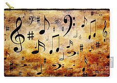Carry-all Pouch featuring the digital art A Musical Storm by Andee Design