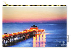 Carry-all Pouch featuring the photograph A New Day At Folly Beach by Mel Steinhauer