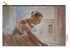 A New Day Ballerina Dance Carry-all Pouch by Vali Irina Ciobanu
