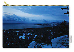 Carry-all Pouch featuring the photograph A New Day Dawns Over The Village by Sean Sarsfield