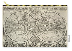 A New Map Of The Whole World With Trade Winds Herman Moll 1732 Carry-all Pouch