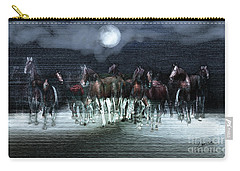 A Night Of Wild Horses Carry-all Pouch