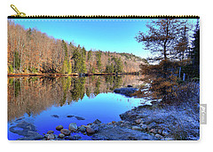 Carry-all Pouch featuring the photograph A November Morning On The Pond by David Patterson
