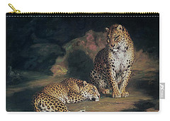 A Pair Of Leopards Carry-all Pouch by William Huggins