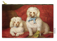 A Pair Of Poodles Carry-all Pouch by English School