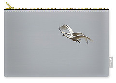 Carry-all Pouch featuring the photograph A Pair Of Swans 2017-1 by Thomas Young