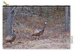 Carry-all Pouch featuring the photograph A Pair Of Turkeys 1152 by Michael Peychich