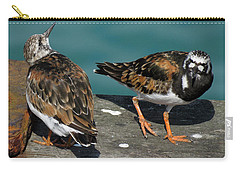 A Pair Of Turnstones Carry-all Pouch by John Topman
