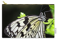 Carry-all Pouch featuring the photograph A Paper Kite Butterfly On A Leaf  by Saija Lehtonen