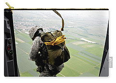 A Paratrooper Executes An Airborne Jump Carry-all Pouch