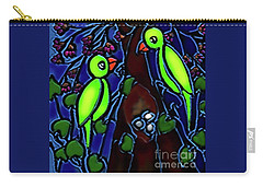 A Parrot Family In Wilderness Carry-all Pouch