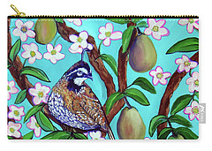A Partridge In A  Blooming Pear Tree Carry-all Pouch