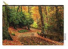 A Path Through Autumn Carry-all Pouch by Darren Fisher