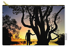 Carry-all Pouch featuring the photograph A Peaceful Dawn Down By The Lake by Keiran Lusk