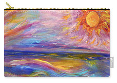 A Peaceful Mind - Abstract Painting Carry-all Pouch by Robyn King