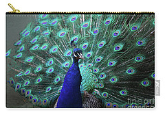 A Peacock With His Feather's Expanded Carry-all Pouch