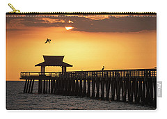 A Pelican Dive-bomb At The Naples Pier Naples Fl Carry-all Pouch