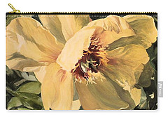 Carry-all Pouch featuring the painting A Peony For Miggie by Laurie Rohner