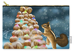 Carry-all Pouch featuring the painting A Perfect Christmas Tree by Veronica Minozzi