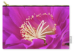 Carry-all Pouch featuring the photograph A Pink Punch  by Saija Lehtonen