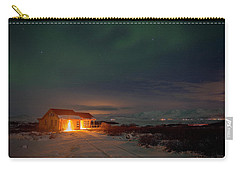 Carry-all Pouch featuring the photograph A Place For The Night, South Of Iceland by Dubi Roman