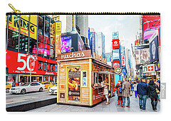 A Portable Food Stand In New York Times Square Carry-all Pouch