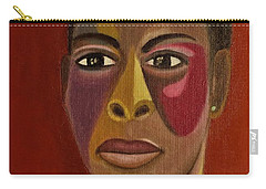 A Portrait Of A Model Carry-all Pouch by Tamara Savchenko