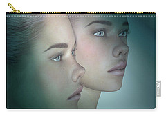 A Portrait Of Twins Carry-all Pouch
