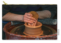 A Potter's Hands Carry-all Pouch by Marie Neder