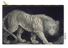 A Prowling Tiger Carry-all Pouch by Elizabeth Pringle