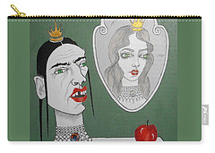 A Queen, Her Mirror And An Apple Carry-all Pouch