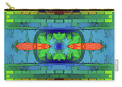 Carry-all Pouch featuring the digital art A Question Of Balance by Wendy J St Christopher