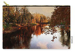 a quiet evening in a city Park painted in bright colors of autumn Carry-all Pouch