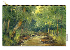 Carry-all Pouch featuring the painting A Quiet Place by Gail Kirtz