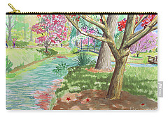A Quiet Stroll In The Japanese Gardens Of Gibbs Gardens Carry-all Pouch