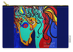 Carry-all Pouch featuring the painting A Rainbow Called Romeo by Alison Caltrider