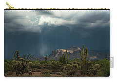 Carry-all Pouch featuring the photograph A Rainy Evening In The Superstitions  by Saija Lehtonen