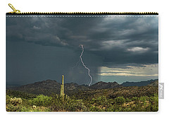 Carry-all Pouch featuring the photograph A Rainy Sonoran Day  by Saija Lehtonen