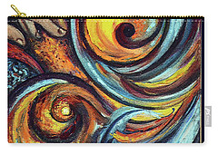 Carry-all Pouch featuring the painting A Ray Of Hope by Harsh Malik