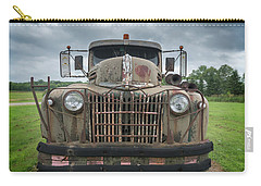 Carry-all Pouch featuring the photograph A Really Rusty Ford by Guy Whiteley