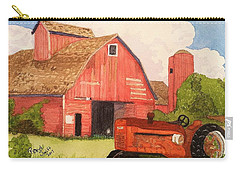 A Red Barn Carry-all Pouch by Rand Swift