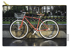 A Red Bicycle Near Jackson Square, New Orleans, Louisian Carry-all Pouch