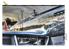 A Reflective Mustang Carry-all Pouch by David Collins