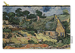 Carry-all Pouch featuring the digital art a replica of the landscape of Van Gogh by Pemaro